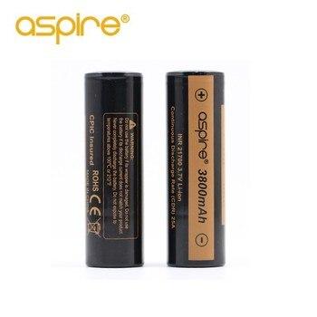 Original Aspire INR 21700 batería 3800 mAh 3,7 V Li-ion para cigarrillo electrónico Mod/Kit 21700 batería recargable