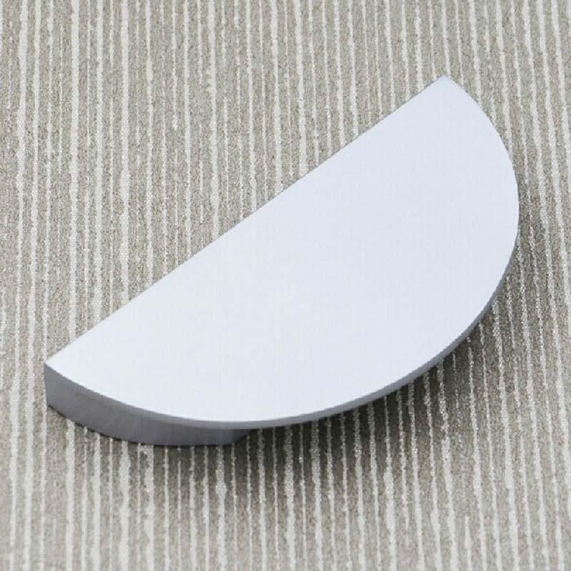 64mm Matte Silver Drawer Half Round Shoe Cabinet Handle