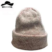 2016 новая мода зима женщины шапки теплые Skullies женские Шапочки сплошной цвет Шапки