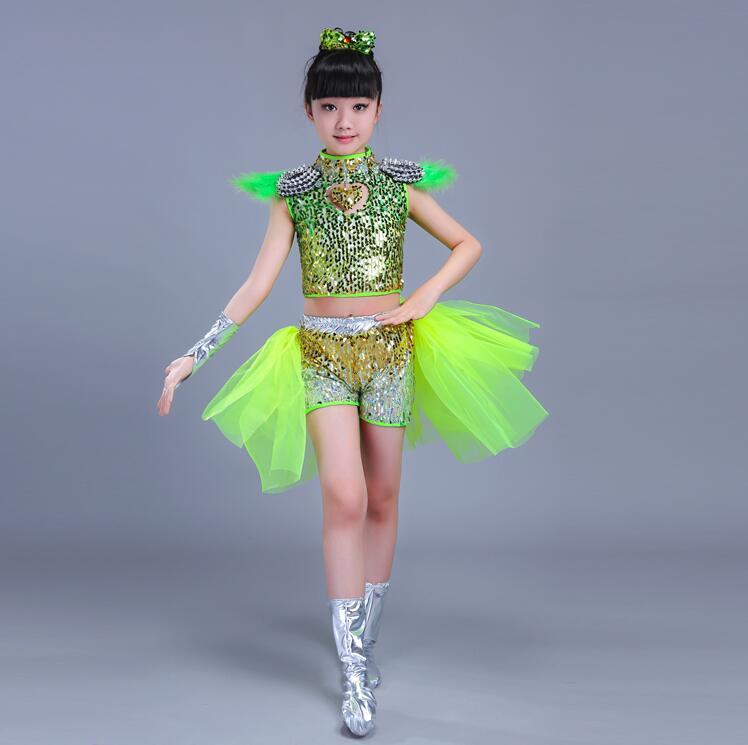 Детская одежда с блестками для бальных танцев, джаз, хип-хоп, сценическая одежда, костюмы для выступлений, одежда, топ, рубашка, шорты, сценическая одежда для мальчиков и девочек, танцевальные костюмы - Цвет: Слоновая кость