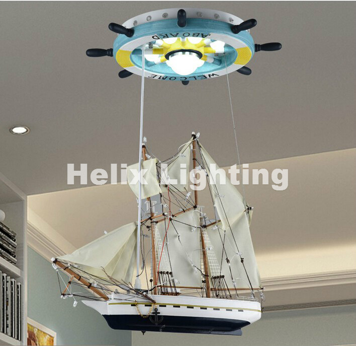 цены New Arrival Children Boat Pendant Lamp Modern Rubber Design Pendant Lights Fixture Kids Children Bed Room Lighting Free Shipping