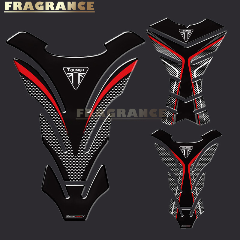 3D Rubber Motorcycle Tank Pad Protector Stickers Case For Triumph 675R Tiger 800 XC Speed Triple Tank All Years