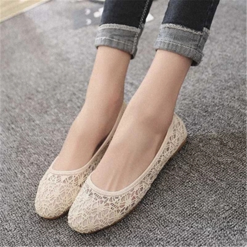 2018 new women shoes ballet flats Fashion cut outs flat women shoes sweet hollow out summer female Breathable casual shoes 2017 summer new women fashion leather nurse teacher flats moccasins comfortable woman shoes cut outs leisure flat woman casual s