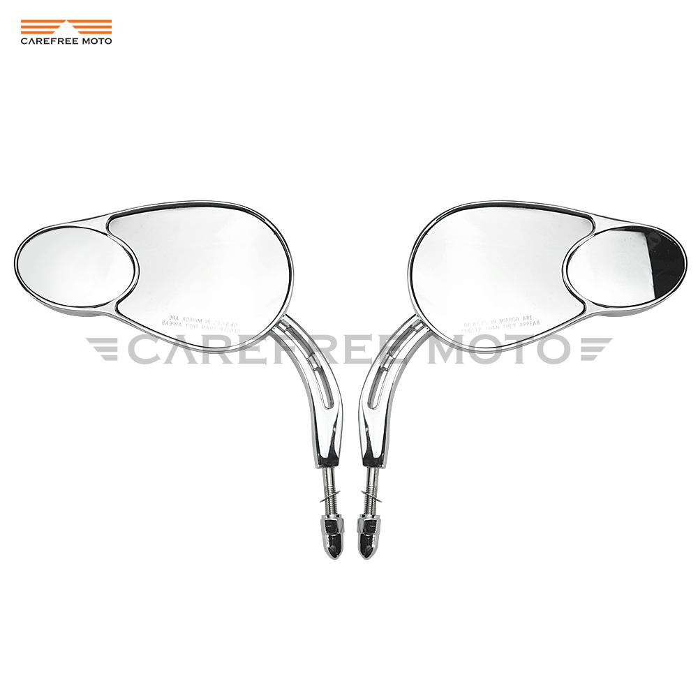 Chrome Motorcycle Mirror Motor Rear View Mirror case for Harley Road Glide SPORTSTER XL883 XL1200L XL1200C