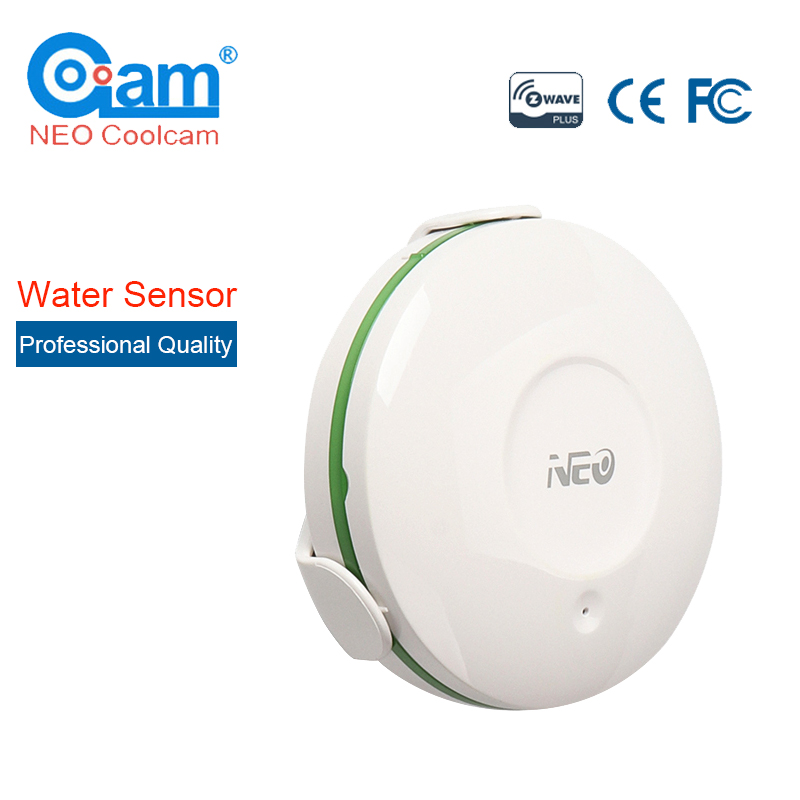 NEO COOLCAM Z-wave Wireless Water Leak Alarm Detector Sensor 868.4MHz Water Flood Leakage Water Intrusion Detector Sensor Alarm wireless water intrusion leakage sensor detector water leak alarm 433mhz for our home alarm system