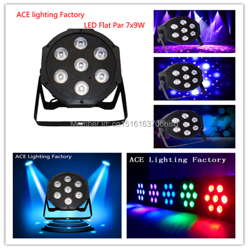 6pcs/lot American DJ LED DJ Dimmer Light Stage Uplighting LED SlimPar Tri 7 RGB 9W 3IN1 LED Lamp chandelier christmas lights dj стойка athletic dj 6 desk