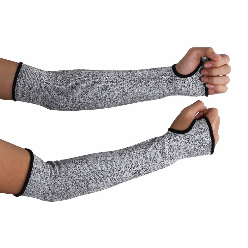 NEW Grey Safety Cut Heat Resistant Sleeves Arm Guard Protection Armband Gloves Workplace Safety Protection
