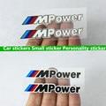 4pcs Car Styling MPower Handdoor Car Sticker Badge Accessories Sticker For BMW M3 M5 X1 X3 X5 X6 E36 E39 E46 E30 E60 E92 F30