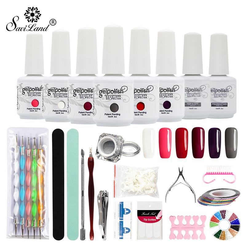Saviland 15ml Color Gel Varnish Party Gift Nail Art Tools DIY Nail ...