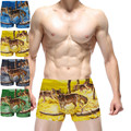 Lobo Hombres la Ropa Interior Boxer de algodón Bragas Calzoncillos de Dibujos Animados 3D Ucrotch Animal Print Algodon Hombre Boxers Shorts Calzoncillos
