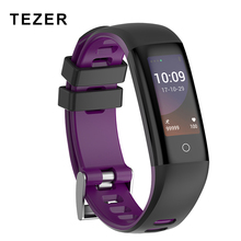 TEZER R16S smart bracelet 50 word massage tracker Heart Rate Monitor IP67 Waterproof Smart fitness wristband For Android ISO