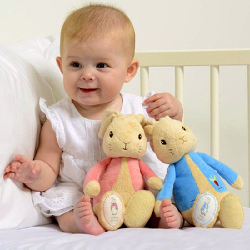 Soft and lovely Plush Animals 27cm Peter Rabbit Dolls high quality Toys to appease infants perfect Baby's companions Newborn gif  19 colors option hot rabbit animal dolls 18 cm pendant plush toys high quality rabbit plush soft feeling send children as gift