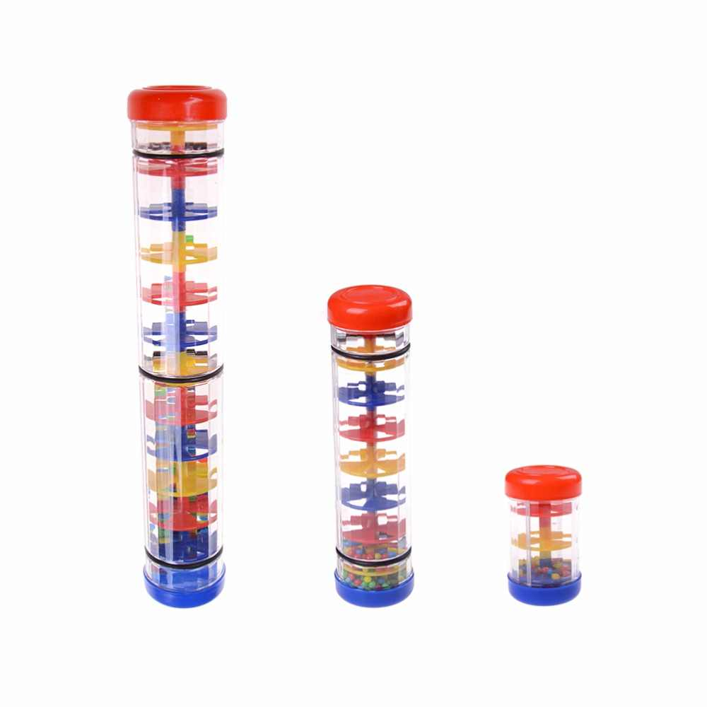 Baru Sensorik Mainan Pendengaran Instrumen Pendidikan Mainan Bayi Musik Rainmaker Tabung Shaker toy