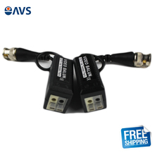 Free Shipping Twisted CCTV Video Balun Passive Transceivers 3000FT Distance Via UTP BNC Cable Cat5