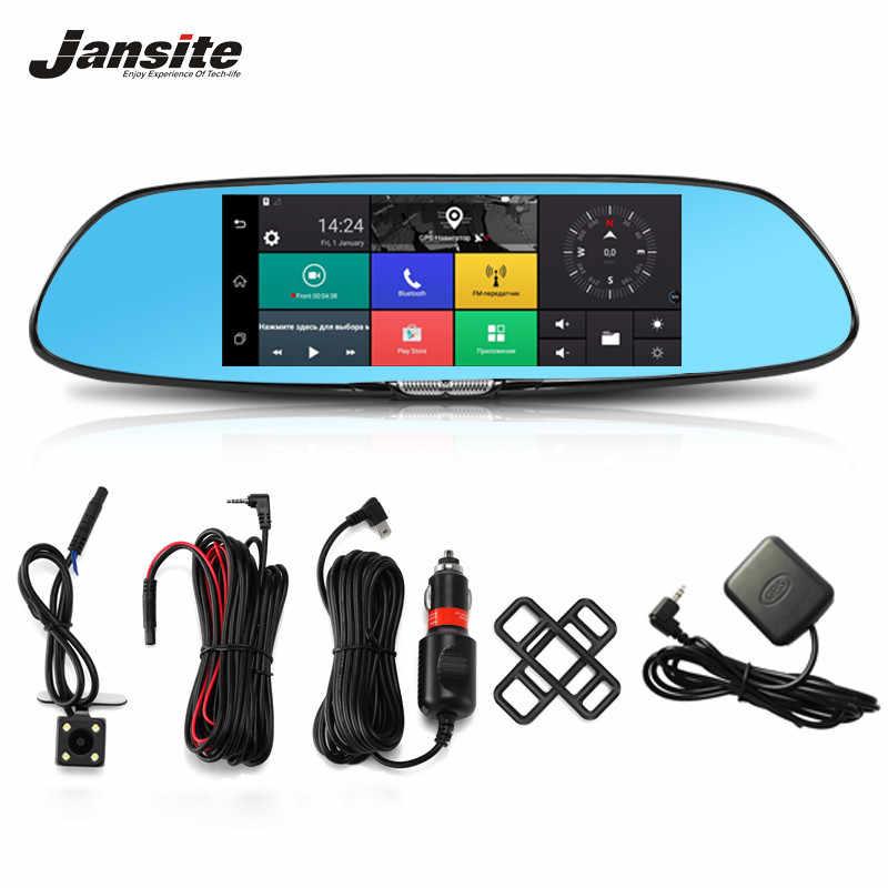 """Jansite 3 グラムダッシュカム Android 5.0 車カメラ 7 """"タッチスクリーン Gps ナビゲーション車のビデオレコーダー Bluetooth 無線 Lan バックミラー"""