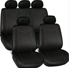 Universal 9pcs Full Seat Cover Set Car Low Front Back Black and Red Free shipping!!