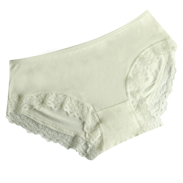 0c40e5beb81 2Pcs Sexy Lace Edge Seamless Briefs Underwear Women Panties Sexy Lingerie Women  Lace Panties Comfortable Touch Skin Knickers