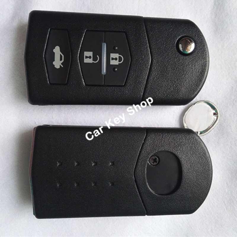 3 Button Remote Key Fob Shell Case Folding Flip With Uncut