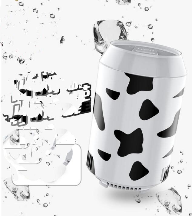 fast cooling cow pattern ring-pull can shape 8W mini USB Power fridge Refrigerators 18X10.9CM 520w cooling capacity fridge compressor r134a suitable for supermaket cooling equipment