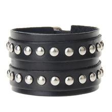 Модные европейские винтажные браслеты из натуральной кожи брендовые панковские шармы с широкими манжетами браслеты для мужчин ювелирные браслеты подарок