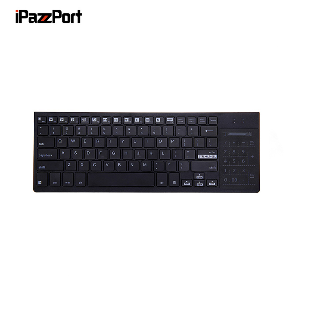 IPazzPort KP 810 35 2 4Ghz Wireless Multi media Keyboard with Touchpad Numeric Keypad for Windows