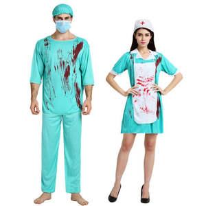 umorden halloween men women scary zombie costume dress
