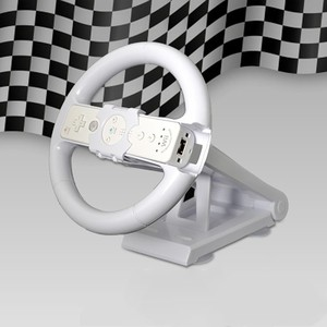 Image 1 - Biała wielokierunkowa oś Mari o Racing kierownica do gier stacja dokująca podstawa do konsoli Nintend Wii sterownik konsoli Wii akcesoria do gier