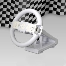 White Multi angle Axis Mari o Racing Game Steering Wheel Stand Dock Base for Nintend Wii Console Controller Wii Game Accessory