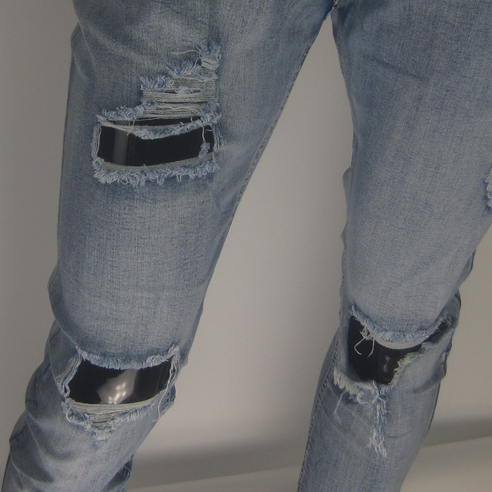 fa91e17856 KANYE WEST miedo de DIOS Boots Jeans hombres justin bieber ripped jeans  para hombres cremallera inferior vaqueros hombres San Valentín MYh569 en  Pantalones ...