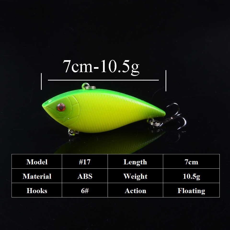 7Cm 10.5G Vib Lureพลาสติกปลาเทียมเหยื่อตกปลา 3DตาSwimbait Crankbait WobblersตกปลาLure