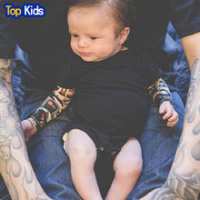 Fashion Infant Baby Boys Romper Long Sleeve Tattoo Print Rock Children Boy Baby Clothing Romper Outfit Set MBR039-1(China)