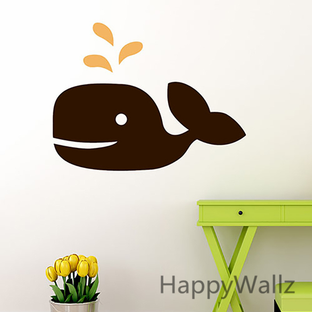 Whale Easy Wall Decal Baby Nursery Animal Wall Sticker Kids Room DIY  Cartoon Removable Children Stickers Part 52