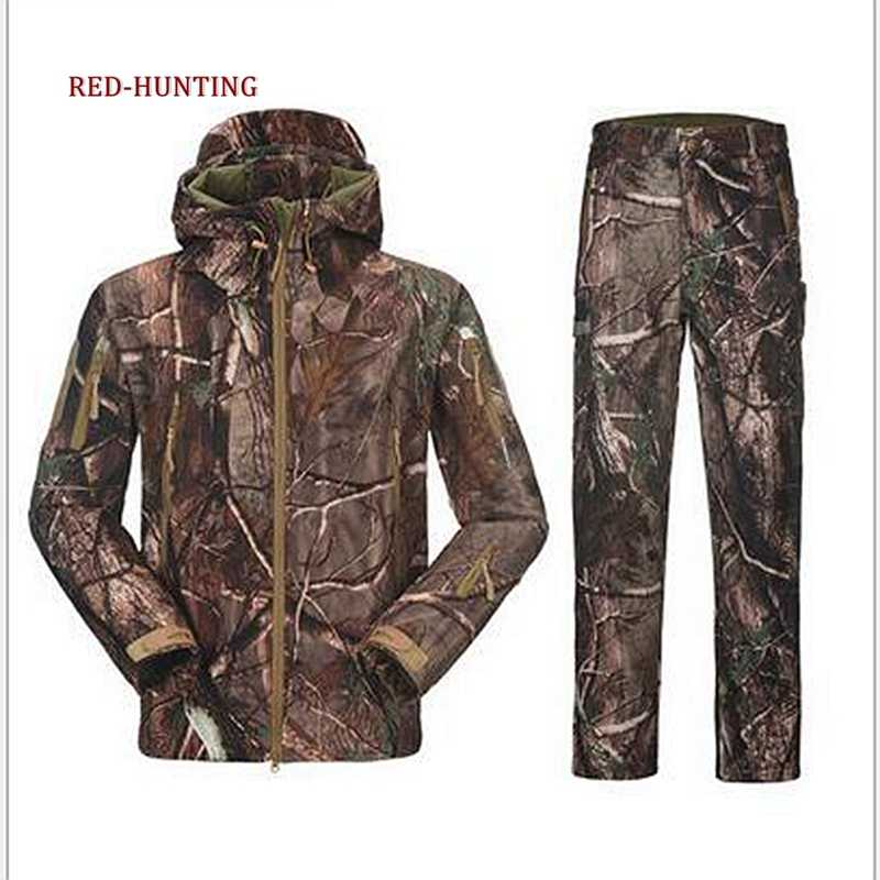 Уличные водонепроницаемые мужские костюмы с капюшоном, тактические комплекты TAD, куртка и штаны, армейские военные флисовые костюмы, Мужская Уличная одежда для охоты