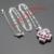 Cor prata Colar de Pingente de Conjuntos de Jóias Para As Mulheres Rosa Branco Criado Topázio Brincos Anéis Caixa de Presente Livre