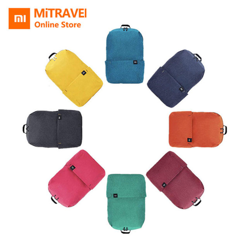 Original Xiaomi Backpack Bag 10L Waterproof Colorful Preppy Leisure Sports Pack Bags Unisex For Mens Women School Travel Camping