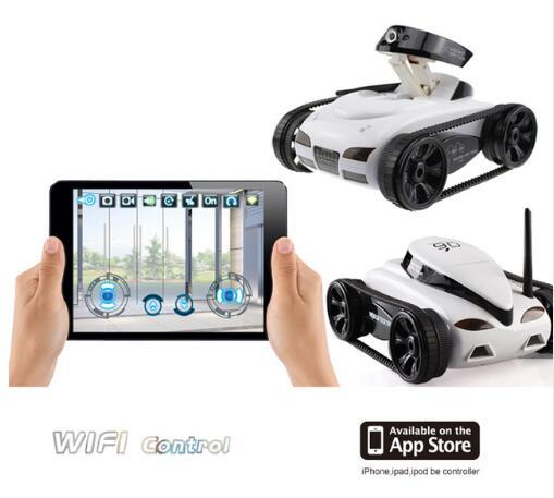 RC Tank WIFI voiture radiocommandée voiture en temps réel caméra voitures pour iPhone iPad iPod App avec 0.3MP caméra électronique modèle jouets