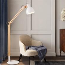 Japanese Solid Wood Led LED Floor Lamps Modern Living Room Bedroom Lighting Lights Iron Standing Reading