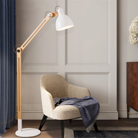 Japanese Solid Wood Led LED Floor Lamps Modern Living Room Room Bedroom Lighting Floor Lights Iron Standing Lamps Reading Lights