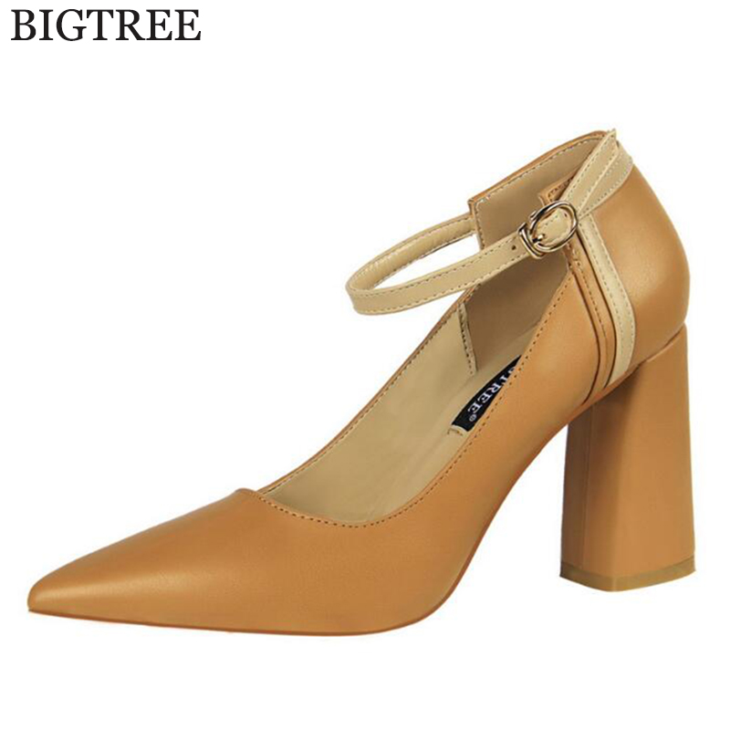 2018 new Fashion High Heels Women Pumps Summer Women Shoes Thick Heel Pumps Comfortable Shoes Woman Platform Shoes k683 new casual high heeled shoes sexy ruslana thick heels platform pumps women pump thick heel platform shoes black white shoes size