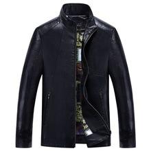 2017 short designM-5XL  male genuine leather clothing plus size plus velvet slim motorcycle leather jacket outerwear