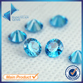 1~3mm 100pcs AAAAA Round Cut CZ Stone  European Machine Cut Middle SeaBlue Synthetic Gems Zirconia Stone