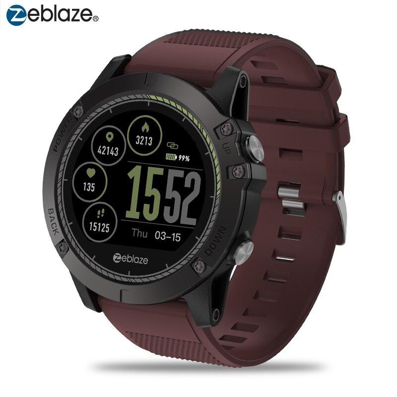 Montre intelligente étanche IP67 Zeblaze VIBE 3 HR montre intelligente Bluetooth 4.0 suivi d'activité toute la journée en plusieurs langues