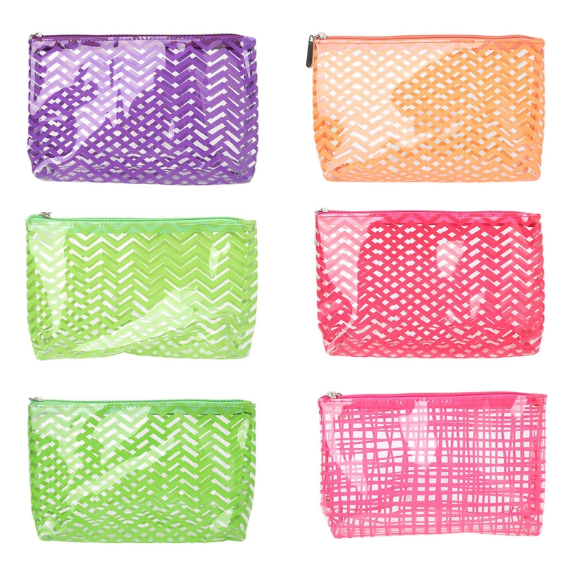 THINKTHENDO Travel Women New Cosmetic Bag Clear Toiletry Fashion Waterproof Makeup Pouch New Lady Handbag Zip Casual Organizer thinkthendo women fashion clear cosmetic bags pvc toiletry casual storage holders organizer pencil case