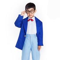 Children Detective Conan Cosplay Costume Japanese Anime School Uniform Halloween Cosplay For Boy Kid Carnival Adult