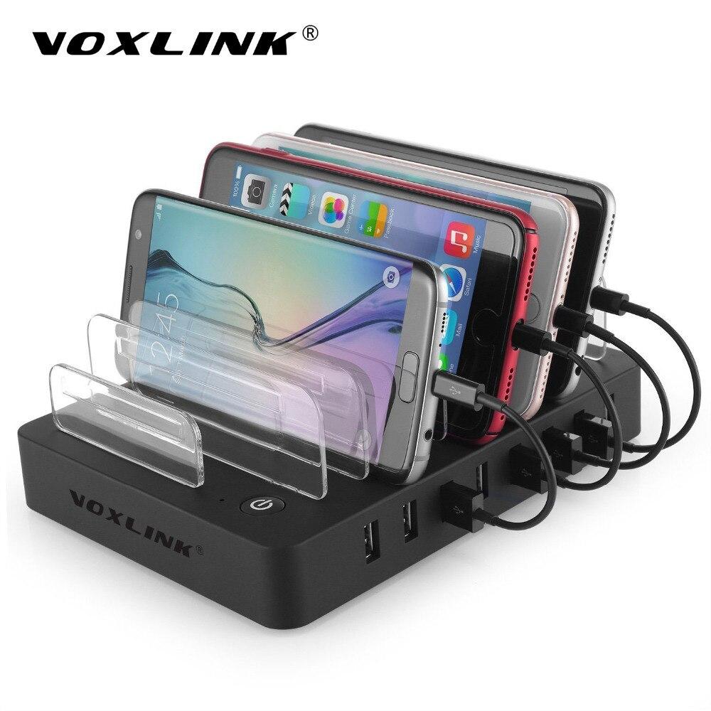 imágenes para VOXLINK USB Estación de Carga Del Muelle, Universal $ number Puertos Multi Cargador de Escritorio USB con Soporte para iPhone 7 Plus ipad Samsung S7 Borde