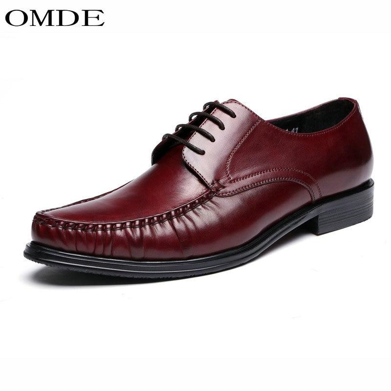 93623b6e0bc02 Zapatos Cuero Planos Zapatos Negocios Black Diseño Hombres Moda Casual Red  Marca Vestido wine Cuero De Omde Auténtico Oxfords qOzX58wq
