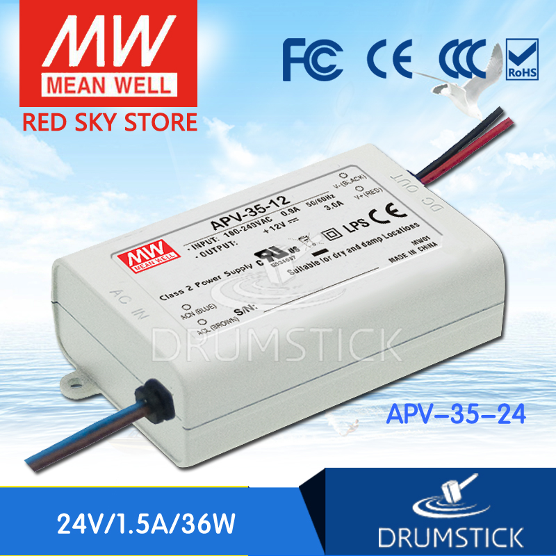 (Only 11.11)Selling Hot MEAN WELL APV-35-24 (6Pcs) 24V 1.5A meanwell APV-35 24V 36W Single Output LED Switching Power Supply(Only 11.11)Selling Hot MEAN WELL APV-35-24 (6Pcs) 24V 1.5A meanwell APV-35 24V 36W Single Output LED Switching Power Supply