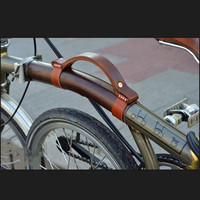 Vouwfiets lederen band frame bescherming voor brompton fiets bescherming draagbare handvat-in Beschermende uitrusting van sport & Entertainment op