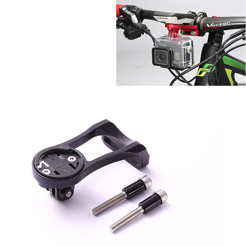 Bike Computer Stem Extension Mount Holder With Gopro Bracket Adapter For GARMIN Mount Edge GPS Computer 1000 820 810 800 520 rider 530 c gps bicycle bike cycling computer extension mount with ant cadence sensor garmin edge200 520 820 1000 1030