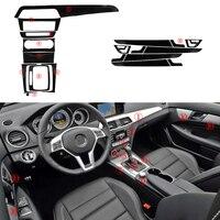 5D 1 Set Car Interior Protection Trim Vinyl fit for Mercedes Benz C Class W204 2008 2009 2010 2011 2012 2013 2014